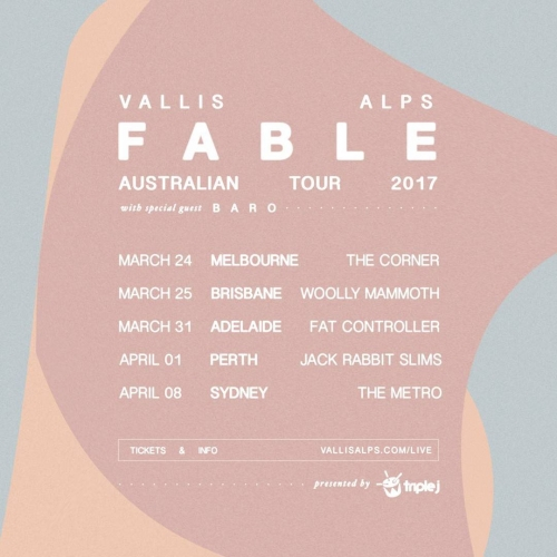 JUST ANNOUNCED: 💫 Dreamy indie-pop duo Vallis Alps will be launching their forthcoming Fable EP here this March! Tickets on sale Friday Jan 13 via cornerhotel.com 💫  #livemusic #melbournemusic #australianmusic