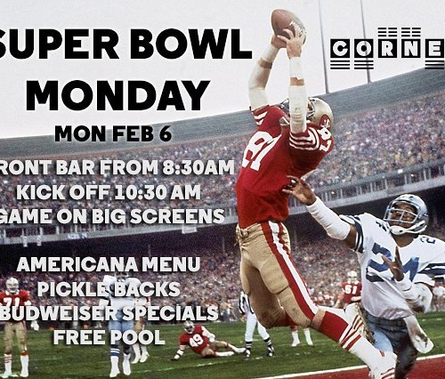Calling all 'Murican football fans! Get down to watch the big game on the big screens here at the Corner Hotel when the 51st Super Bowl rolls into Houston this Feb! 🏈🏈🏈 #superbowl #cornerhotel