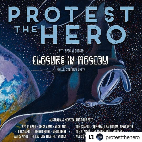 JUST ANNOUNCED: Protest The Hero are bringing some prog metal thunder down under this April! Tix on sale this Friday from cornerhotel.com  #Repost @protestthehero with @repostapp ・・・ AUSTRALIA / NEW ZEALAND: It has been a while!  We are excited to be heading over in April.