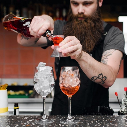 When it's a million degrees outside and the only thing getting you through is the knowledge that you'll be getting amongst our Aperol Spritzs after work tonight ☉️️🍹👌 #summer #cocktails #aperolspritz #cornerhotel #melbournebars