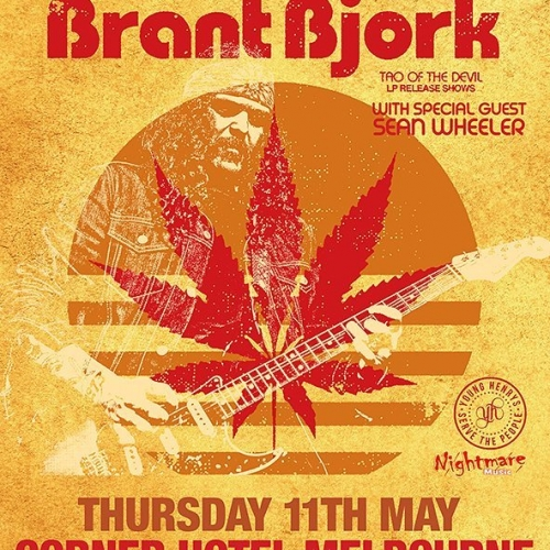 Drummer and founding member of Kyuss, Brant Bjork will be bringing his new album 'Tao Of The Devil' to the Corner Hotel this May! Tickets on sale now via http://bit.ly/2kQ58ZD #livemusic #cornerhotel #kyuss #brantbjork #melbournemusic