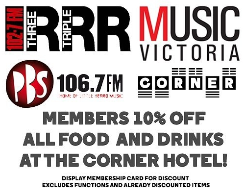 Showing some love to the Melbourne music community with the newly announced member and subscriber discounts for all of you card-holding legends! #melbournemusic #tripler #pbs #musicvictoria