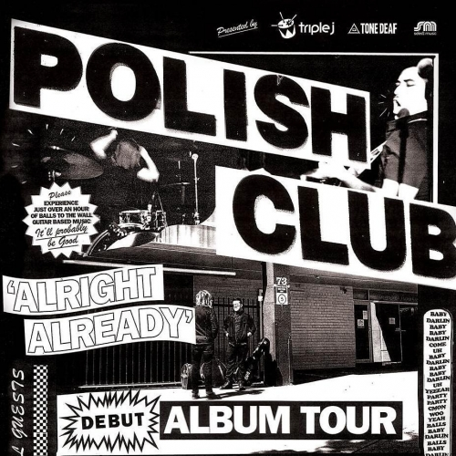High-octane rock'n'rolling duo Polish Club are releasing their highly anticipated debut album next month and launching it here on Sat the 3rd of June! Tickts on sale now via http://bit.ly/2kA81Kf #livemusic #cornerhotel #music #ausmusic