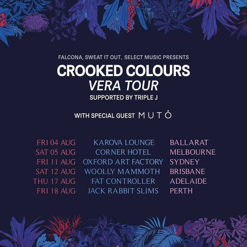 JUST ANNOUNCED: Indie electronic outfit Crooked Colours will be launching their highly anticipated forthcoming debut album here in August! Tickets on sale Thursday but sign up to our mailing list at cornerhotel.com for exclusive presale access now!