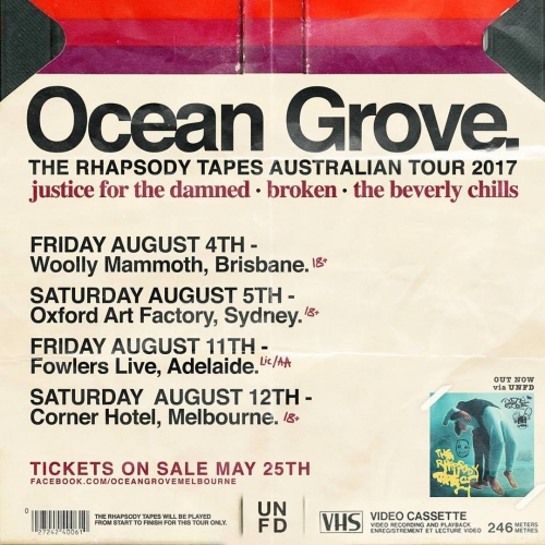 Local hardcore legends Ocean Grove have just announced that they're embarking on an epic Aussie tour and taking to the Corner Hotel stage on Sat 12 August! Tix on sale tomorrow morning via cornerhotel.com.