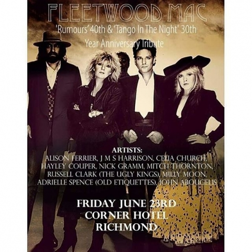 The 'rumours' are true! We're hosting a 40th anniversary of Fleetwood Mac's seminal album Rumours here this Friday. Featuring an all-star local line-up paying tribute ot the 70s greats, tickets on sale now via http://ow.ly/RQcJ30cH74g 📷: @mitchthornton . . . . . #cornerhotel #melbourne #livemusic #music #fleetwoodmac