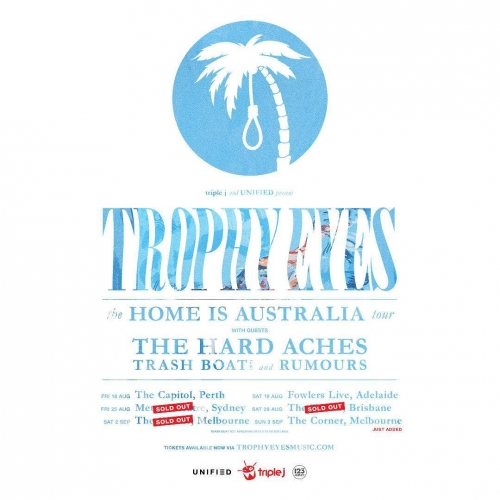 Tickets to see indie-punk outfit Trophy Eyes here this September are flying out the door! With one Melbourne show already sold out, don't miss your chance to catch 'em whilst they're in town. Tickets on sale via http://ow.ly/WAsX30cLkJT . . . . . #cornerhotel #melbourne #livemusic #music