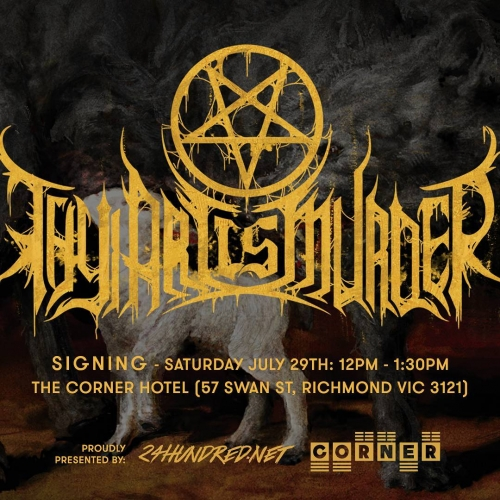How's this?! Our m8s 24 Hundred will be taking over the bandroom to host deathcore giants Thy Art Is Murder this Saturday for an arvo signing sesh! All going down from midday and completely free entry. . . . . . #24hundred #cornerhotel #melbourne #livemusic #music
