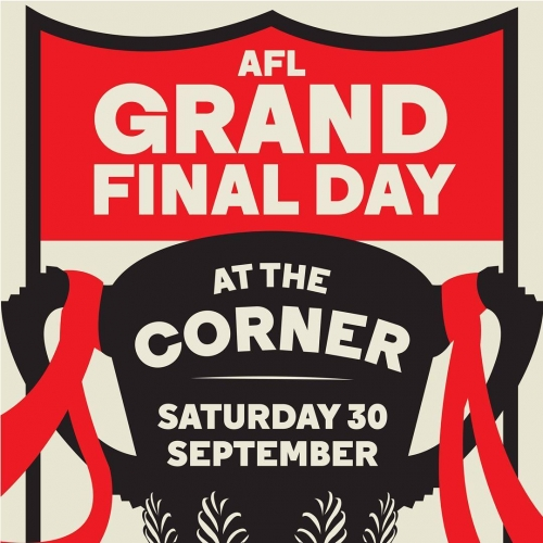Game shown across 14 screens throughout the venue, open from 10am and closing.. whenever we fall.  Try and stop us from having a big one this Grand Final day. We dare you, we double dare you. 👊