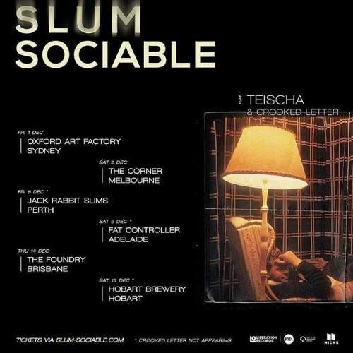 JUST ANNOUNCED: Fusing soul, hip-hop and electronica, Slum Sociable will be celebrating the release of their self-titled debut album with us this December!  Tickets on sale now via the website - link in bio.
