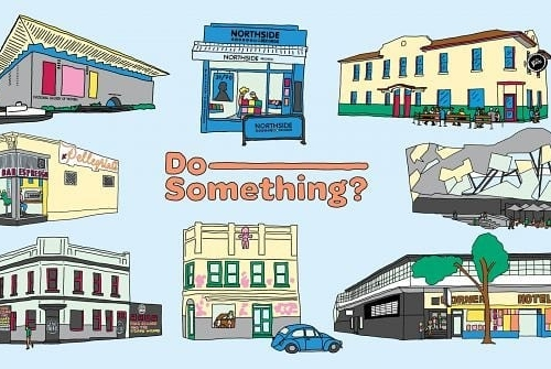 Local creative Jarryd Hood has illustrated some of his fave spots in Melbourne for the new project 'Do-Something?' and we're super stoked to have been included!  Gosh darn don't we look cute down there. 😍