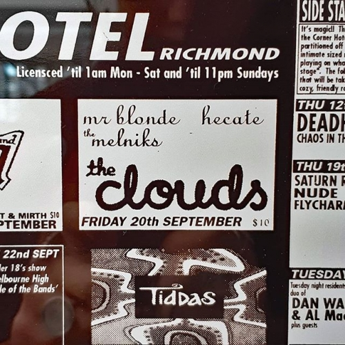 When a two founding members of a band who played here a massive 22 years ago are teaming up for an intimate matinee show at your sister venue. 💖  Who's coming to the Northcote Social Club to see The Clouds with us next month?