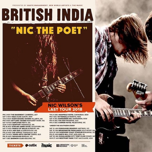 JUST ANNOUNCED: Aussie noughties indie rock'n'roll legends British India are taking to our stage to farewell retiring guitarist and founding member Nic Wilson!