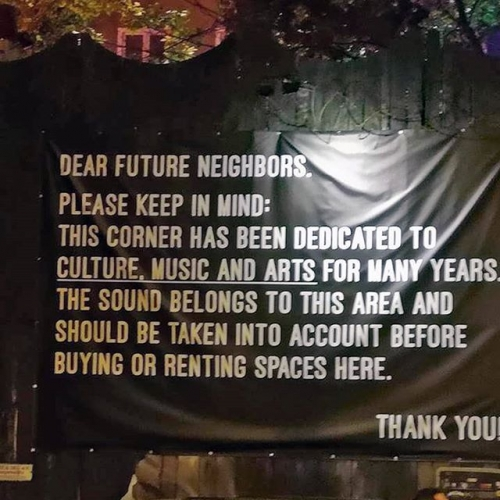 How good is this?! A sign put up in Berlin's cultural disctrict. Can proudly say that THIS Corner is also dedicated to culture, music and arts. 👊 📷 David Trax Davies