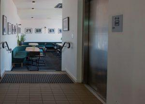 Lift & entrance to Legends Lounge