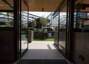 Entrance to beergarden