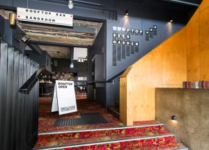 Front bar entrance