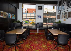 Front bar seating