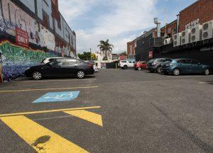 Accessible carpark facing Botherambo st