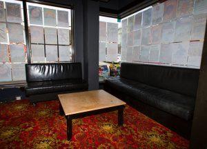 Quiet space in front bar