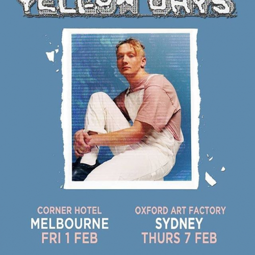 Festival season is still in full swing and that means loads more sideshows! Catch British slacker-rock superstar @yellowdayss when they're in town for @lanewayfest this Feb. Tix selling fast via cornerhotel.com.