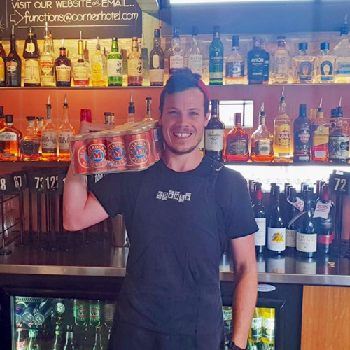 See Carter here? See what he's holding? A big slab of coldies that the winners of our Wednesday night rooftop trivia get to take home every week.  That's right! Our famous rooftop trivia is BACK tomorrow night. Get involved and book your table ASAP ➡️ 9427 7300