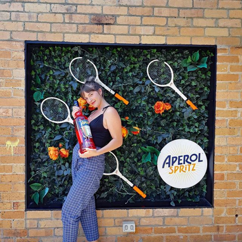Catching all the @australianopen action on the rooftop bigscreen with an @aperolspritzau in hand? Don't mind if we do. 😎