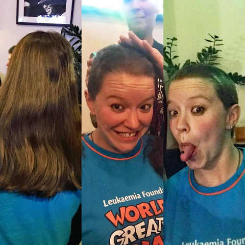 Ain't no party like an 'I'm cutting all my hair off to raise funds for charity' party!  Massive ups to @razzievegas for going through with the big chop here on Saturday, raising funds for @worldsgreatestshave 🙌