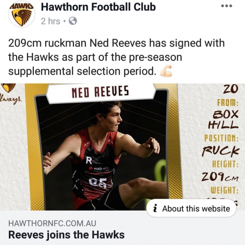 HUGE congratulations to former Corner staffer Ned Reeves who just got signed to play footy for the Hawks!  From pouring pints to playing with the big guns. 💪