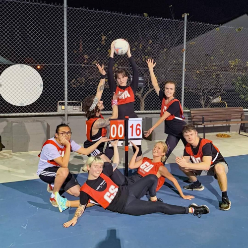 Behold the Mighty Corndogs! Our newly formed netball team who played their first game this week and put in a damn good effort. 💪💪💪 Check out the round one match report on FB now.
