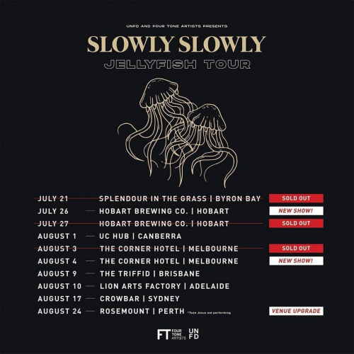 Second @slowlyslowlymusic show just announced due to popular demand! Move quickly quickly, tix selling fast via cornerhotel.com.