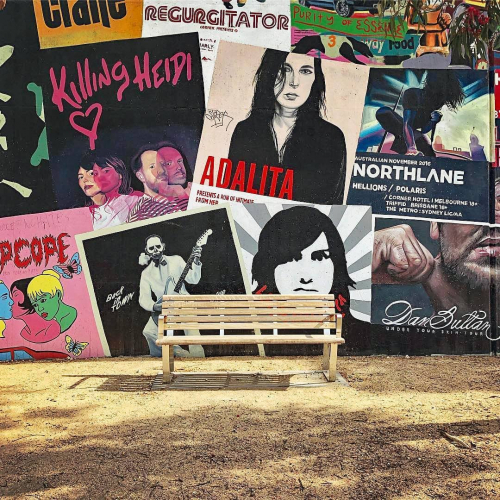 Very honoured to have our neighbouring park bench featured on the official @park_benches Insta profile. 🙏  Sit here and you're pretty much hanging out with Adalita, CW Stoneking and all the other legends hanging out on the mural.