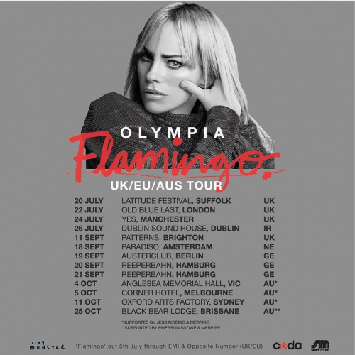 "JUST ANNOUNCED: Olympia will be celebrating the release of her forthcoming sophomore record ""Flamingo"" here this Oct!  Tix on sale 10am Wed 26 June via cornerhotel.com."