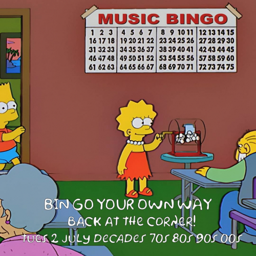 Music bingo with Dan Watt is back next week! Kicking off on Tues 2 July with a 'decades' edition; more info at cornerhotel.com and table bookings via 9427 7300.