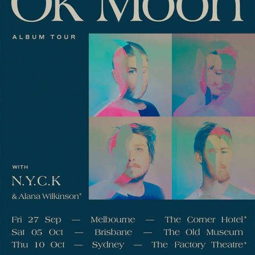 What happens when Dustin Tebbutt, Lanks, Hayden Calnin and Xavier Dunn get together to make some music? @okmoonmusic  They'll be launching their debut album at a can't-miss show here this Sep. Get on it, tix at cornerhotel.com.