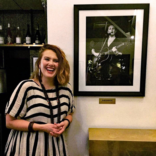 Just a photo of the wonderful Clare Bowditch at the Corner Hotel smiling next to a photo of Clare Bowditch performing at the Corner Hotel. Live music inception at it's best. 💖 you @clarebowditch!