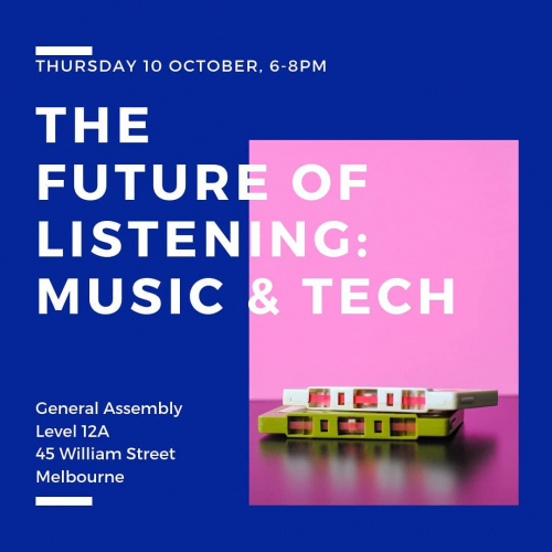 Want to learn a bit about music and tech? We're presenting this free session at @melbourne_ga tomorrow night ft. a panel of experts talking about the future of tech in the music bizz and more.  Want in? Head to the link in their bio to RSVP!