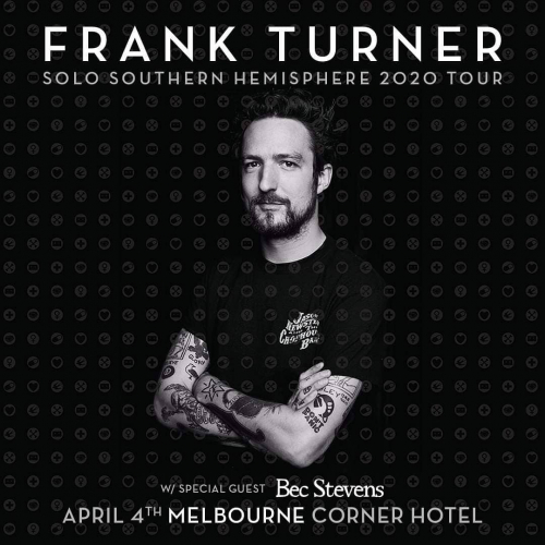 JUST ANNOUNCED: Folk-punk rebel @frankturner is heading our way in 2020 👏🏻 Get ready 'cause  tickets are on sale 20/11! Head to cornerhotel.com for more info