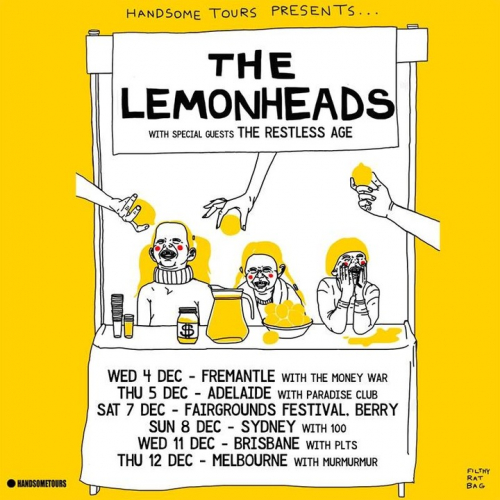 Alt-rock icons @thelemonheadsofficial are back in town next week! Catch 'em play a heap of new tunes plus all your old faves, tix on the way out via cornerhotel.com.