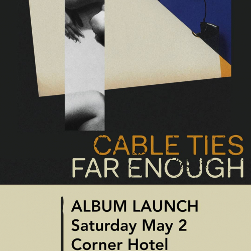 JUST ANNOUNCED: Corner Award alumni @cable.ties will be launching their HUGE second album right here this May!  Don't miss it, tickets on sale now → cornerhotel.com.